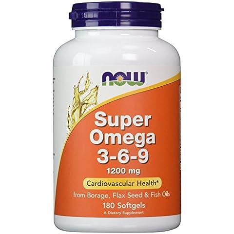 NOW Foods - Super Omega 3-6-9 1200 mg. - 180