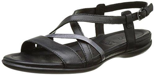 Ecco Damen Flash Offene Sandalen mit Keilabsatz, Schwarz (51707black/Black), 37 EU