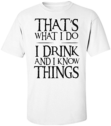 Thats-What-I-Do-I-Drink-And-I-Know-Things-Tyrion-Lannister-Quote-camiseta-para-hombre