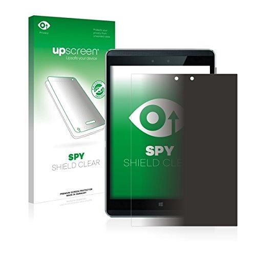 upscreen Spy Shield Clear Blickschutzfolie / Privacy für HP Pro Tablet 608 G1 (Sichtschutz ab 30°, Kratzschutz, selbstklebend)