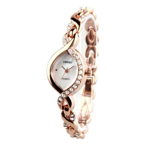 Time100 Oval Shell Dial Womens Watch