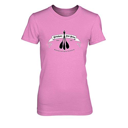 HP Wirtshaus Drei Besen - Damen T-Shirt, Größe: XL, Farbe: pink
