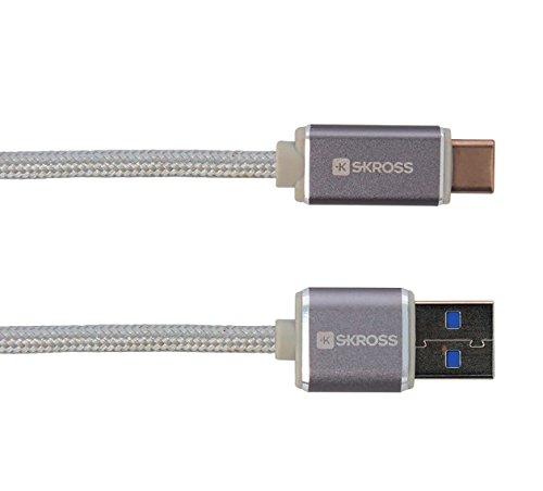 Preisvergleich Produktbild Charge'n Sync USB Type-C (3.0), Silber, 1 m - Für alle USB-Geräte mit USB Type-C Anschluss