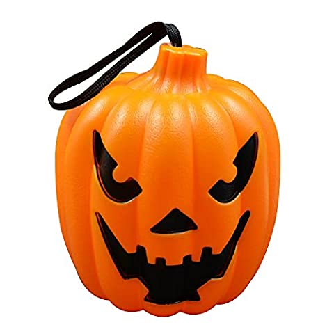 Alxcio Halloween Kürbis Licht LED Lampe Sprach-Sensor Angetrieben Durch Batterie mit Scary Ghost-Sounds Trick or