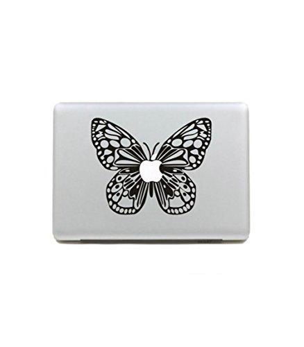 Top Top Vinyl Aufkleber Aufkleber Skin Schmetterling Case schwarz und weiß Aufkleber DIY für Apple MacBook Air Pro Retina 13in mh-342