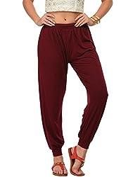 Frenchtrendz Womens Plum Harem pants (Medium)