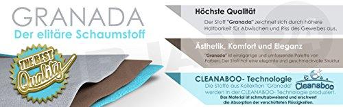 Ecksofa Wicenza Grand! Design Big Sofa Eckcouch Couch! mit Schlaffunktion Bettfunktion! Wohnlandschaft! U-Form, schmutzabweisender Stoff (Soft 017 + Granada 2725 + Amber 70) - 6