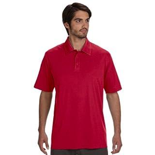 Allsport Medical Alo Men's Performance Three-Button Polo Shirt - Red -