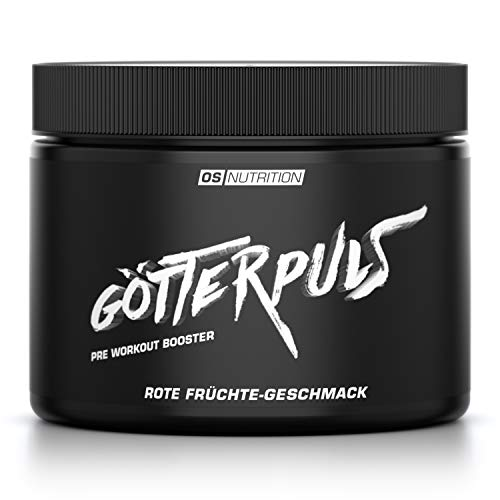 Pre Workout Booster Götterpuls - OS NUTRITION Rote Früchte 308g - made in Germany