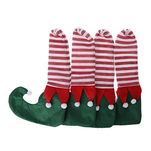 4 Stücke Weihnachten Boden Fußschutz Stuhl Tischbein Stiefel Strumpf Socke Ärmel Abdeckung Dekoration