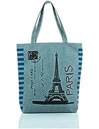Leora Women's Canvas Handbag (Grey) (HNMS505L2G)