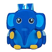 TENDYCOCO Kids Backpack Elephant Lovely Cartoon School Bookbag Travel Daypack Rucksack for Girls Boys