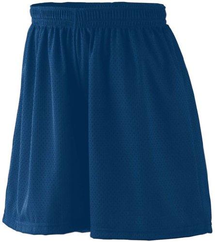 Augusta Sportswear Damen Tricot Mesh Kurz, Damen, Shorts, Ladies Tricot Mesh Short, Navy, XX-Large (Tricot 100% Polyester Mesh)