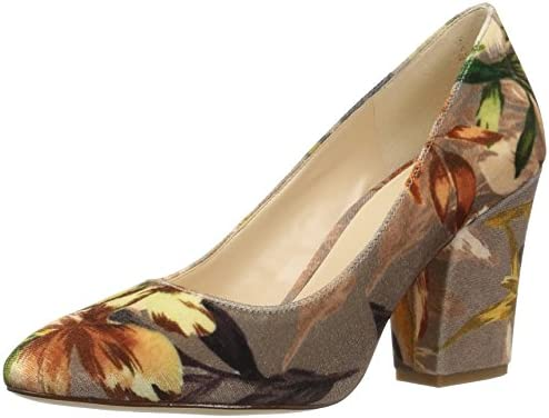 Nine West 25027935 - Zapatos de tacón con Punta Cerrada de Terciopelo Mujer