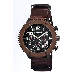 Breed brd1503–Montre pour hommes, bracelet en nylon couleur marron