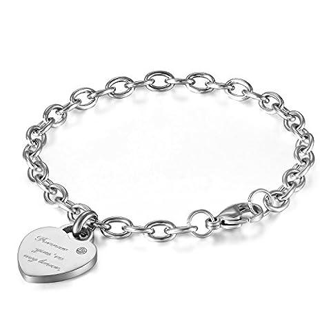 JewelryWe Schmuck Damen Armband Edelstahl Elegant