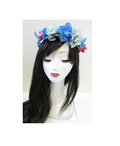 Hortensia bleu corail rose cheveux fleur couronne bandeau coiffe Boho Vintage U37 * * * * * * * * exclusivement vendu par – Beauté * * * * * * * *
