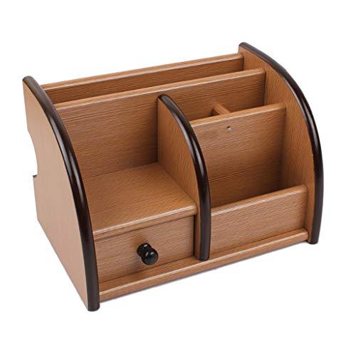 CAODANDE Stifthalter Aus Holz Schublade Partition Aufbewahrungsbox Office Home Desktop Stifthalter Stifthalter (Color : Light Brown) -