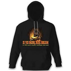 Copytec Si Vis Pacem para Bellum–IF You Want Peace Prepare for War–Vikingo Herrero Arma Espada Guerra # 9901 Negro XX-Large