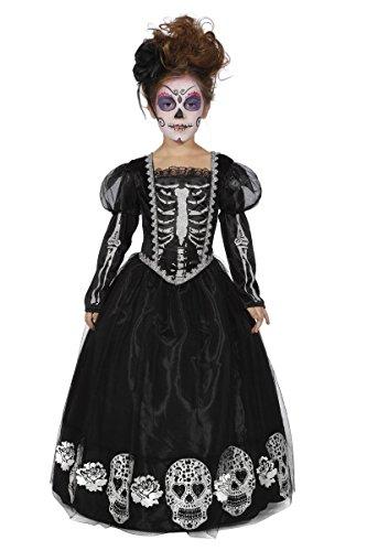 Kinder Kostüm Tag der Toten Skelett schwarze Witwe Halloween Gr.164 (Schwarze Witwe Kostüme Für Kinder)