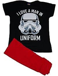 Ladies Star Wars Stormtrooper I Love A Man en uniforme de pijama Pjs Set 6