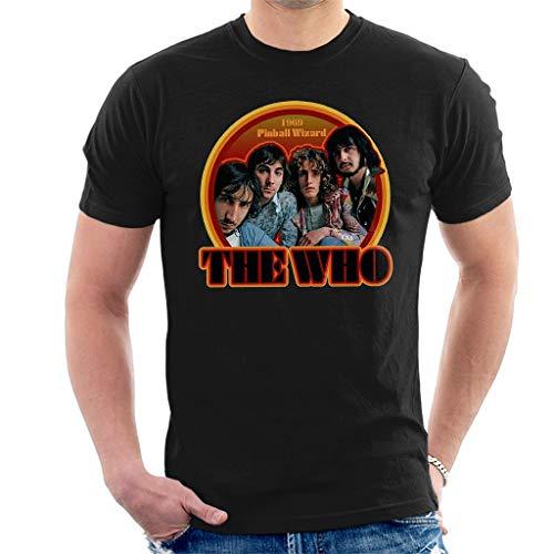 The Who 1969 Pinball Wizard Kurzarm Herren T-Shirt Schwarz Large -