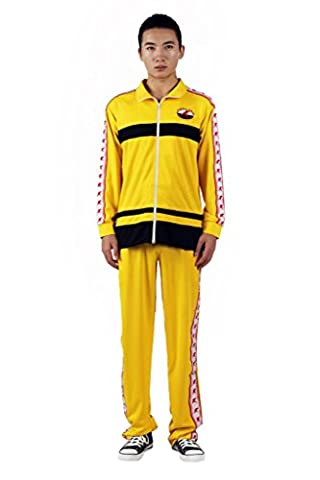 Mtxc Men's The Prince of Tennis Cosplay Rikkaidai Winter Tennis Apparel Size XXXL-Plus Yellow