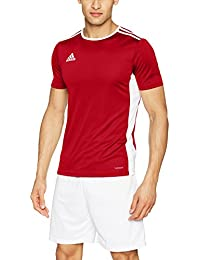 adidas Entrada 18 JSY Teamtrikot Camiseta, Niño, Rojo (Power Red/White)