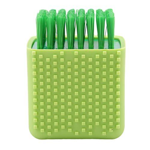 Garispace Multifunktions Haushalt Schüssel Waschen Pinsel Topfform Kunststoff Kleidung Schuhe Boden Waschen Silikon Wäscher Reiniger(Grün) -