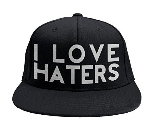 LaMAGLIERIA Casquette Rap I Love Haters Baseball Snapback visière Plate