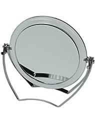 Fantasia Reise-Standspiegel Acryl mit Metallbügel, 15-fach Vergrößerung, Durchmesser: 10 cm, Höhe 12 cm