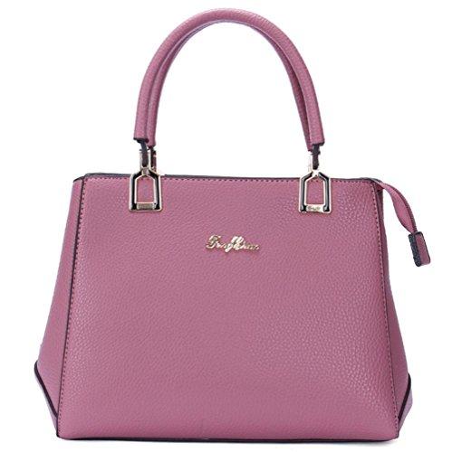 GBT Arbeiten Sie neue Dame-Handtasche um deep purple