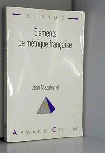 Eléments de métrique française. 8ème édition