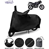 FABTEC Waterproof Taffeta Bike Body Cover for Bajaj Pulsar 180 with Storage Bag Combo (Multicolour)
