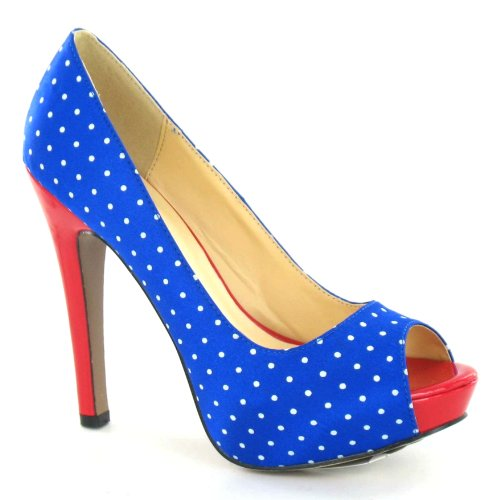 Spot On , Damen Pumps Blau
