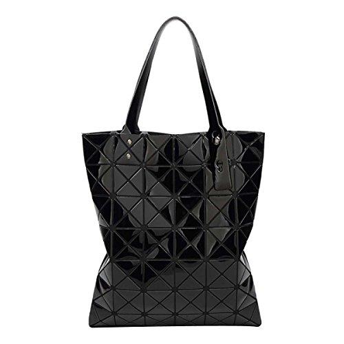 Black Folding Handtasche Variety Geometrie Tasche Frauen Schultertasche Laser pq6xwT0S