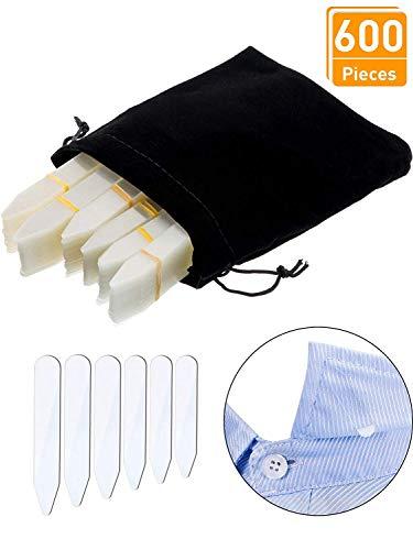 LuLyLu 600 Stücke Kragen Bleibt Kunststoff Kragen Bleibt Knochen Versteifungen für Herren Hemd, 6 Gemischte Größen (Klar) by - Hemd Kragen Versteifungen