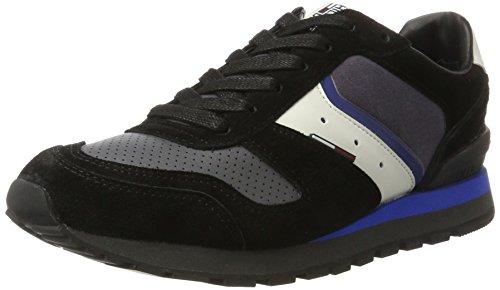 Tommy Uomo nero B2385aron I Nero Monaco 1v1 blu Scarpe Basse Jeans rYrwqFT