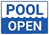Mesllings Sicherheits-Warnschild Pool offen Querformat, 20,3 x 30,5 cm