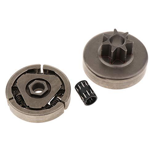 joyMerit 1Set 3 / 8Inch 7T Kupplungstrommelkettenradlager Kettensäge Ersetzen Des Teils