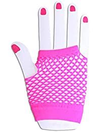 Neon Coloured Short Fishnet Gloves