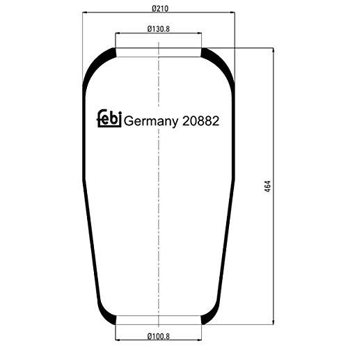 Febi-Bilstein 20882 Soufflet à air, suspension pneumatique