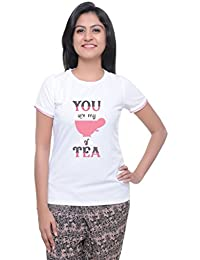 LetsFlaunt Cup of tea White T-shirt Girls Dry-Fit Nw