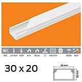 (1,69 EUR/m) 10m Kabelkanal 30x20 mm PVC Farbe Weiß