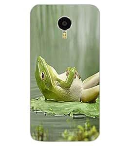 ColourCraft Funny Frog Design Back Case Cover for MEIZU M3 NOTE