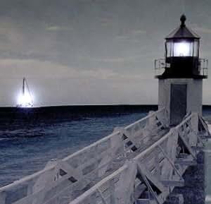 IMAGE LED/PHARE DECORATION MURALE- ROMANTIQUE 40 * 40 cm - Tinas Collection