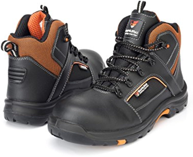Samurai 1034307001 par de zapatos Hautes Bengal S3 HRO HI CI SRC, negro/naranja, 39