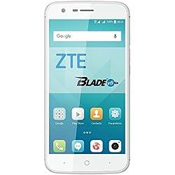 ZTE Blade V8 Lite Smartphone portable débloqué 4G (Ecran: 5 pouces - 16 Go - Double Nano-SIM - Android) Argent