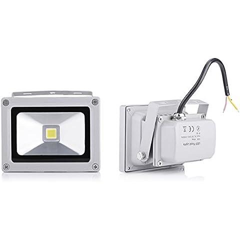20X 10W IP65 a prueba de agua al aire libre Focos LED Lámpara fresco frío Reflector Bombilla Blanca (20
