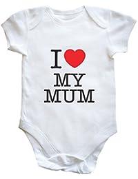 e48803dcd Hippowarehouse I Heart My Mum Baby Vest Boys Girls